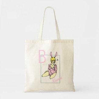 Tote Bag Fille Lapin Rose motif banane mignon