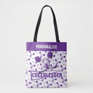 Tote Bag Fille pourpre de pom-pom girl - partout copie