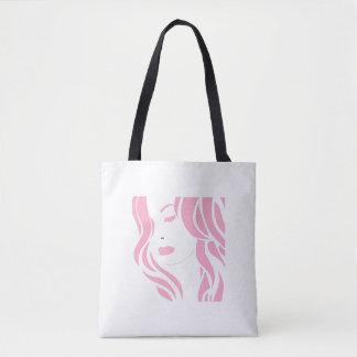 Tote Bag Fille rose