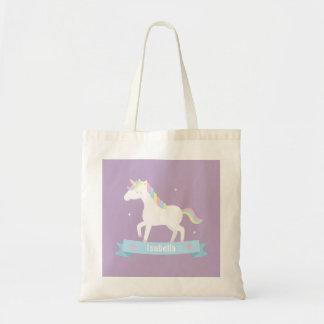 Tote Bag Filles en pastel Fourre-tout nommé de crinière de