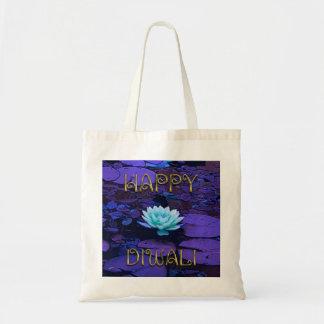 Tote Bag Fleur de Lotus florale pourpre de typographie