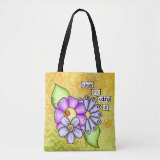 Tote Bag Fleur positive de griffonnage de pensée de plaisir
