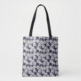 Tote Bag Fleur tirée par la main
