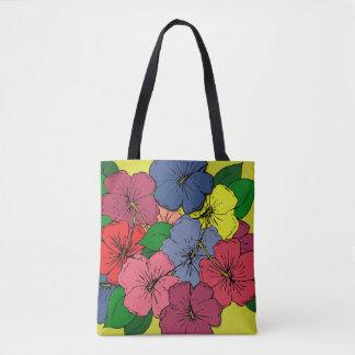 Tote Bag Fleurs multicolores de ketmie
