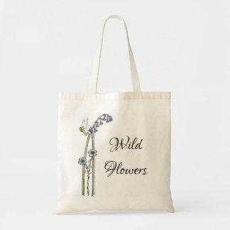 Tote Bag Fleurs sauvages peintes à la main