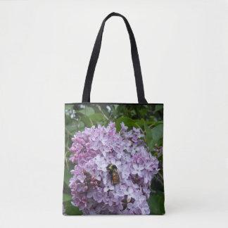 Tote Bag Fourmi sur un lilas