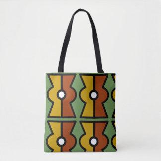 Tote Bag Fourre-tout aztèque avec le signe d'Ollin