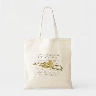Tote Bag Fourre-tout - musique de trombone (valve) et de