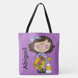 Tote Bag Fourre-tout personnalisé par crayon d'Abigaïl