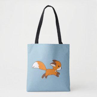 Tote Bag Fox mignon de fonctionnement sur le bleu