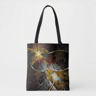 Tote Bag Fractale artistique colorée tout plus de -