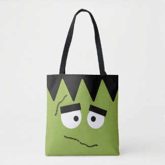 Tote Bag Frankenstein drôle font face pour Halloween