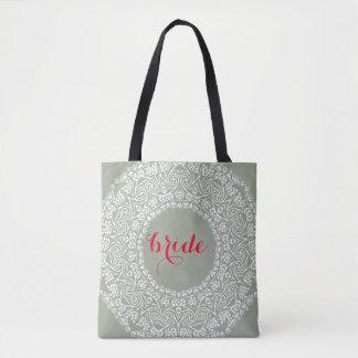 Tote Bag Frontière d'art de remous de mariage de jeune