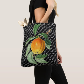 Tote Bag Fruit botanique Apple juste couleur pêche