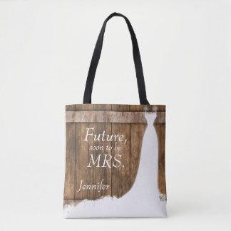 Tote Bag Future Mme. Dans le style en bois rustique
