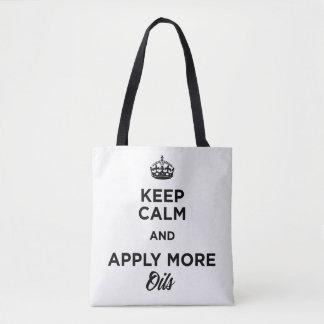 Tote Bag Gardez le calme et appliquez plus d'huiles