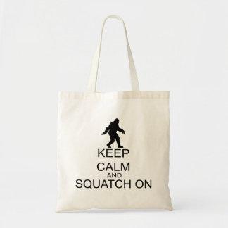 Tote Bag Gardez le calme et le Squatch dessus