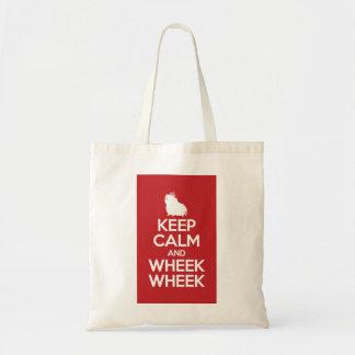 Tote Bag Gardez le calme et le Wheek Wheek