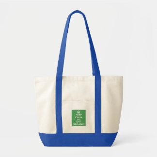 Tote Bag Gardez le calme pour manger organique