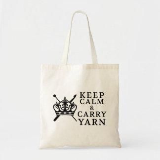 Tote Bag Gardez le calme pour porter des métiers de fil