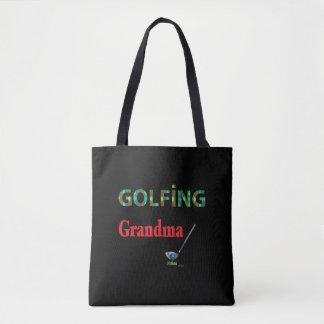Tote Bag GOLF - grand-maman JOUANTE AU GOLF, cool
