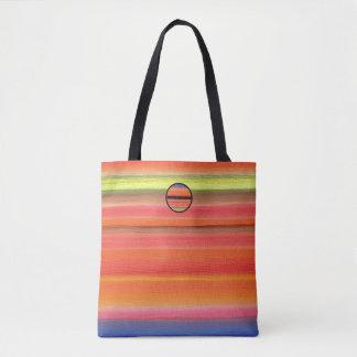 Tote Bag Gradient de couleur de rayure d'arc-en-ciel,