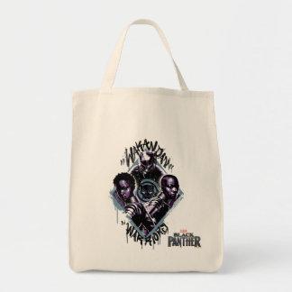 Tote Bag Graffiti de guerriers de la panthère noire |