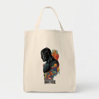 Tote Bag Graffiti de tribal de panthère noire de la