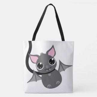 Tote Bag Grand - batte intelligente mignonne d'animal