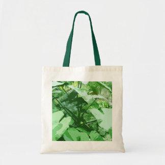 Tote Bag grand plante feuillu vert