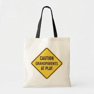 Tote Bag Grands-parents au jeu drôle