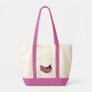 Tote Bag Graphique de banane de rose d'art de bruit