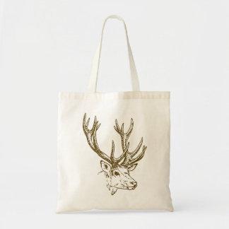 Tote Bag Graphique principal d'illustration de cerfs