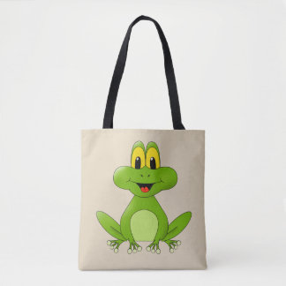 Tote Bag Grenouille verte animated mignonne