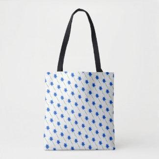 Tote Bag Griffonnage bleu mignon de fleur