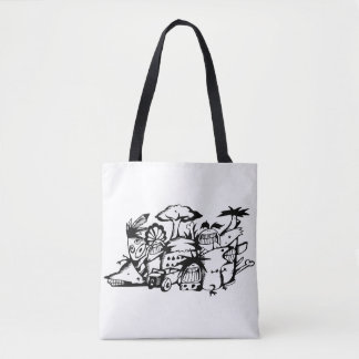 Tote Bag Griffonnage Fourre-tout Bag_Barbarian