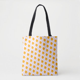 Tote Bag Griffonnage jaune mignon de fleur
