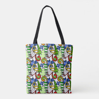 Tote Bag Griffonnages orientés conception, les drawnings de