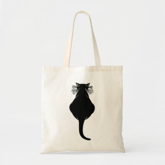 Tote Bag Gros dos de chat noir