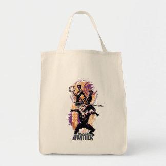 Tote Bag Guerriers de la panthère noire | Wakandan peints