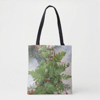 Tote Bag Guirlande de Noël avec des fougères
