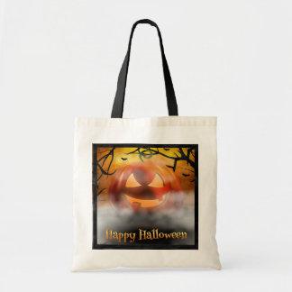 Tote Bag Halloween - citrouille effrayant - brouillard