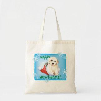 Tote Bag Howlidays heureux Bichon