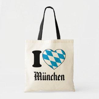 Tote Bag I Love Munich, Bavaria, Allemagne