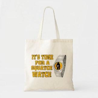 Tote Bag Il est temps pour une montre de Squatch