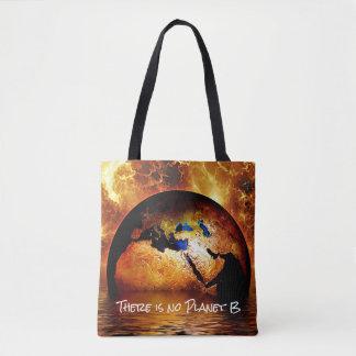 """Tote Bag """"Il n'y a aucune planète B"""" avec la terre brûlante"""
