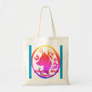 Tote Bag Illusion de loup d'hurlement