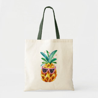 Tote Bag Illustration d'ananas d'aquarelle