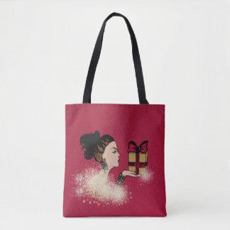 Tote Bag illustration de scintillement de mode de Noël