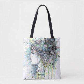 Tote Bag Illustration gitane de style de Boho d'imaginaire